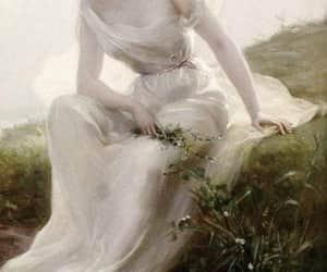 dress, woman, and art image