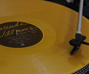 music, vinyl, and yellow image