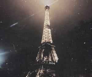 dark, eiffel tower, and pretty image