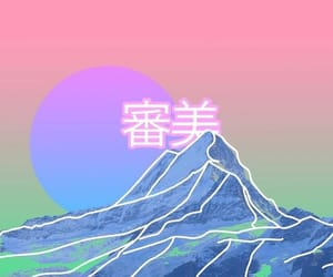 aesthetic, art, and vaporwave image