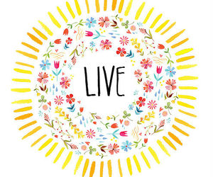 live, flowers, and life image