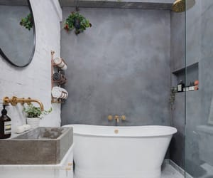 bathroom, dream home, and exposed brick image