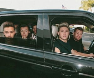 one direction, james corden, and niall horan image