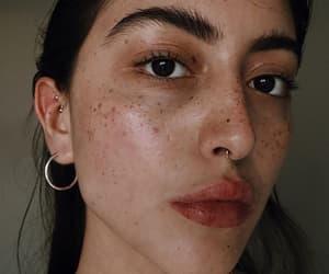 brunette, freckles, and girl image