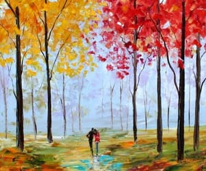 art, autumn, and Oil Painting image
