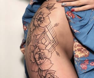 girl, hip, and tattoo image
