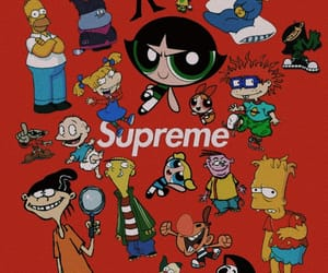 cartoon, red, and supreme image