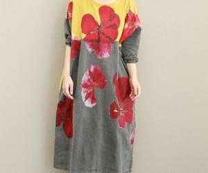 etsy, gray dress, and long dress image
