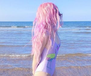 beach, colored hair, and colorful image