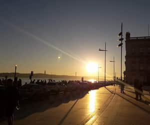 lisbon, por do sol, and portugal image