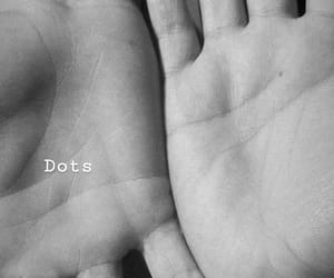 blackandwhite, dots, and hands image