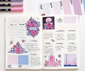 college, diary, and pink image