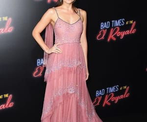 pretty, actress, and pink dress image