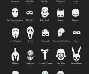 mask, batman, and star wars image