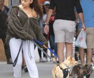 September 22, 2018: Ariana walking her dogs in New York.