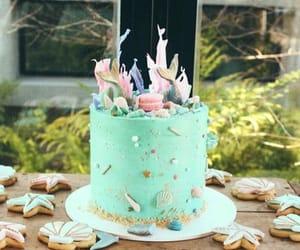 cake, mermaid, and mint image