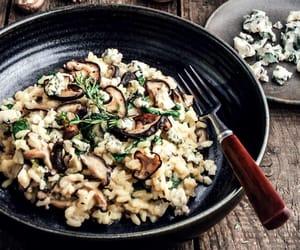 mushroom, risotto, and vegetarian image
