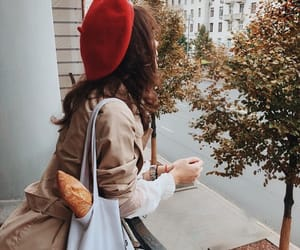 autumn, beret, and brown image