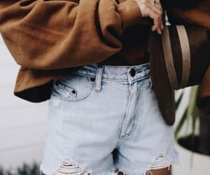 fashion, street style, and short jeans image