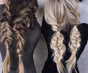 blonde, brunette, and hair image