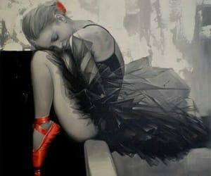 art, black, and dancer image
