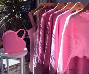 pink, clothes, and bag image