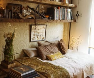 Wood Bookcase over bed