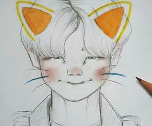 fanart, idol, and jin image