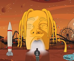 space, spaceship, and travis image