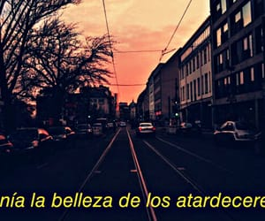 amor, atardecer, and frases image
