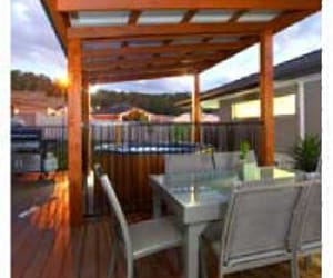 timber decking gold coast, hardscapes gold coast, and deck builders gold coast image