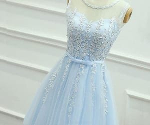 short prom dress, lace homecoming dresses, and beautiful prom dress image