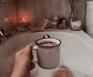 coffee, bath, and autumn image