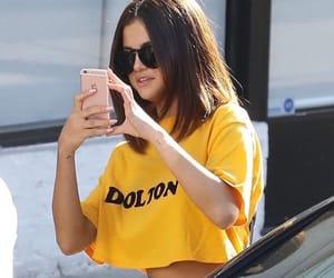 selena gomez and yellow image
