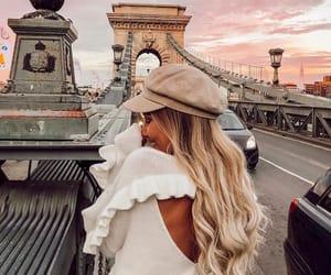 blonde hair, bridge, and budapest image