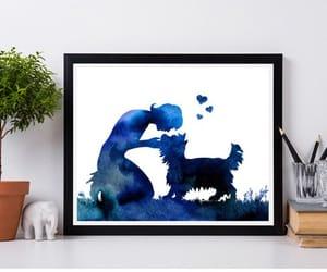 dog, kiss, and etsy image