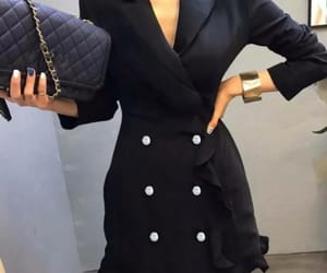 dress, elegant, and office image