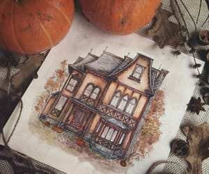 pumpkin and house image
