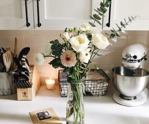 flowers and kitchen image