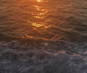 ocean, random, and sunset image