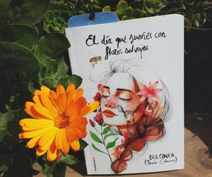 amor, book, and flor image