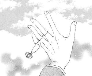 hand, manga, and monochrome image