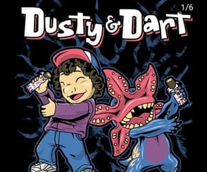 stranger things, dart, and dusty image