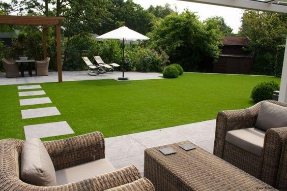 Diseño Terraza Con Cesped Artificial Y Tarima Exterior