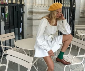 dress, france, and hat image