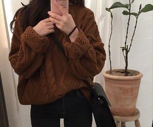 fashion, brown, and girl image