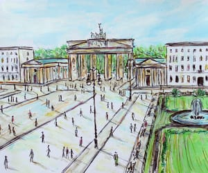 berlin, city, and drawing image