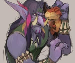 art, raptor, and troll image