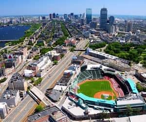 baseball, new england, and boston image