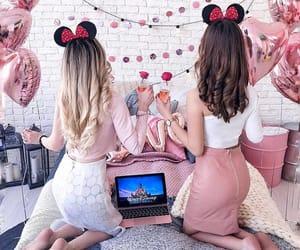 girl, disney, and pink image